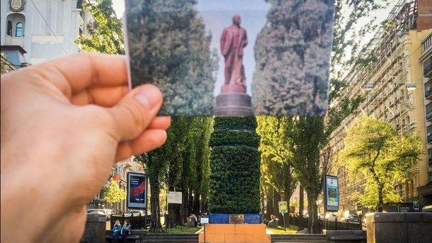 Мяту ирозмарин наместе монумента Ленину вКиеве ободрали вандалы