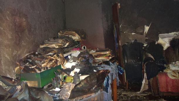 ВКиеве в итоге пожара чуть не умер человек