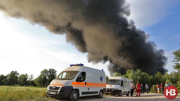 ВВасильковском районе произошел пожар набывшей нефтебазе
