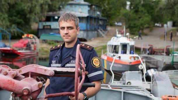Спасатель из Киева Юрий Белецкий