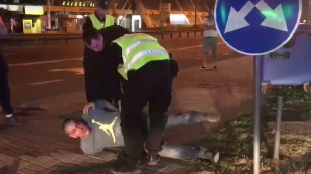 Пьяное ДТП в Киеве: водитель убежал, за то буйствовал известный баскетболист