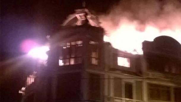 Пожар вКиеве: cотрудники экстренных служб предотвратили два взрыва— ГСЧС