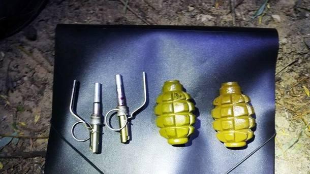 У мужчины обнаружили две гранаты Ф-1