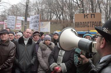 Протестующие перекрыли улицу Грушевского