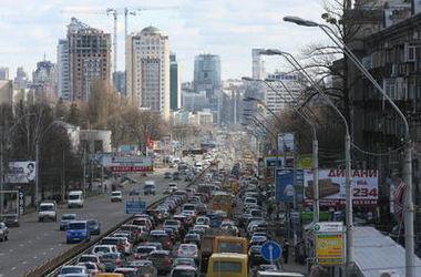 В Киеве рекордные пробки