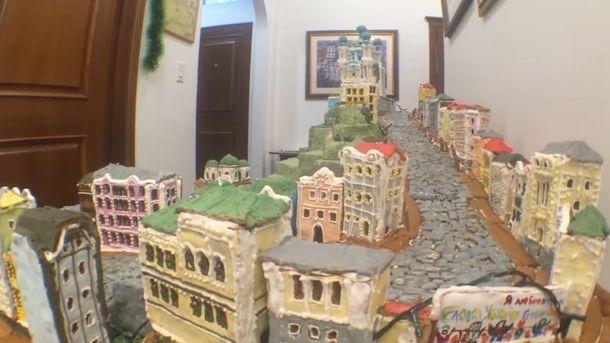 Пряничные домики: вКиеве изимбирного печенья создали Андреевский спуск