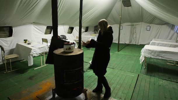 В палатках спасателей можно будет погреться