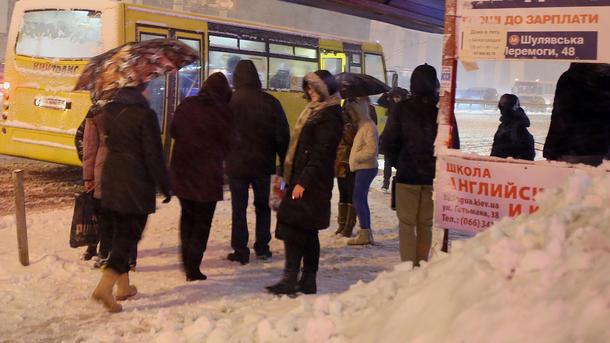 Маршрутки столицы Украины подорожают с21января