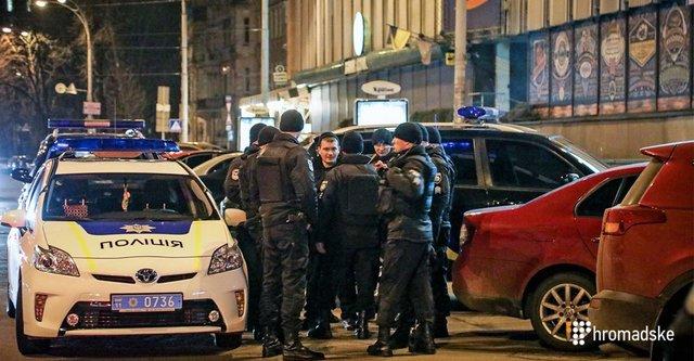 После стрельбы вцентре столицы Украины задержаны два человека