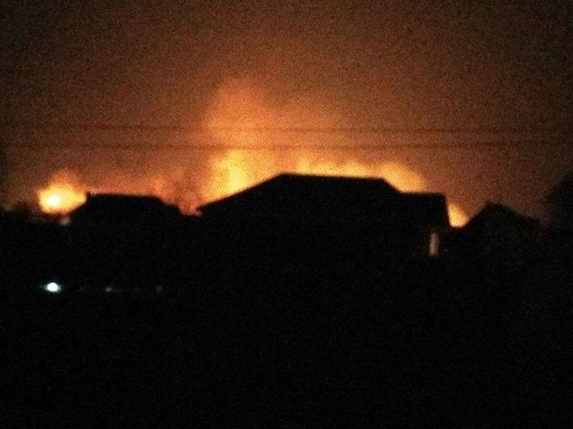 Под Киевом начался масштабный пожар
