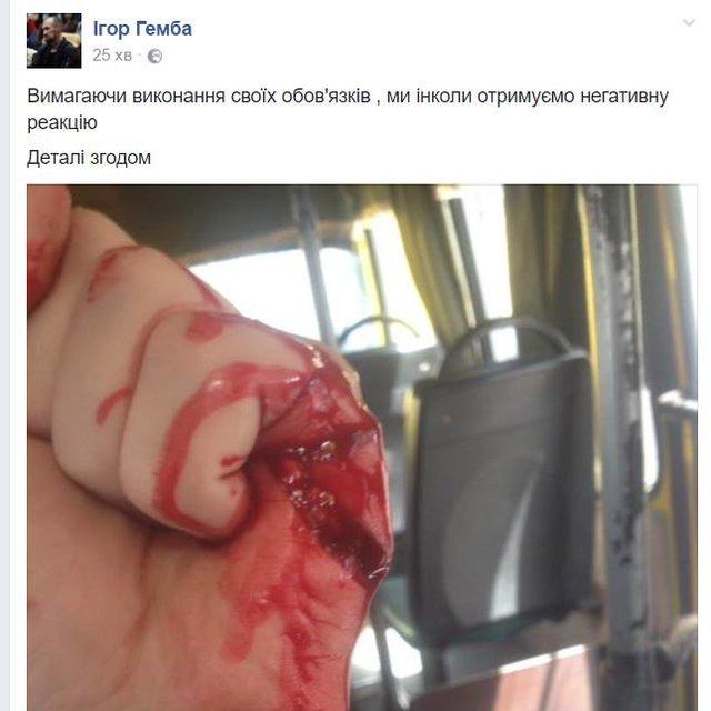 Водитель киевской маршрутки поранил ножом добровольца АТО