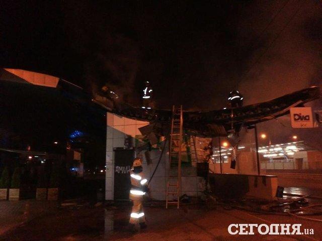 ВКиеве произошел пожар настанции высокоскоростного трамвая