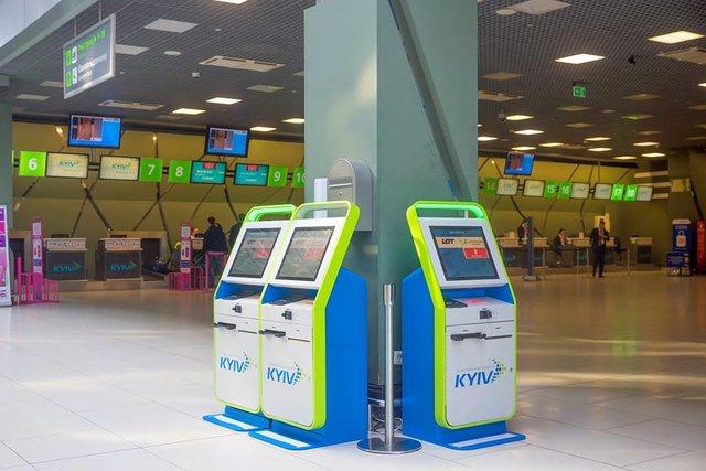 Ваэропорту «Киев» сейчас нарейс можно зарегистрироваться самостоятельно