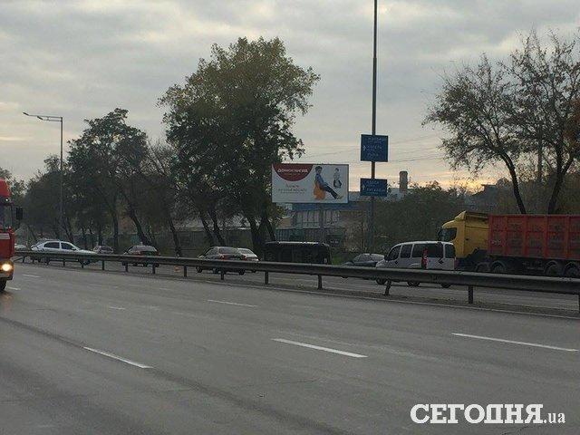 Нашоссе вКиеве произошло огненное ДТП