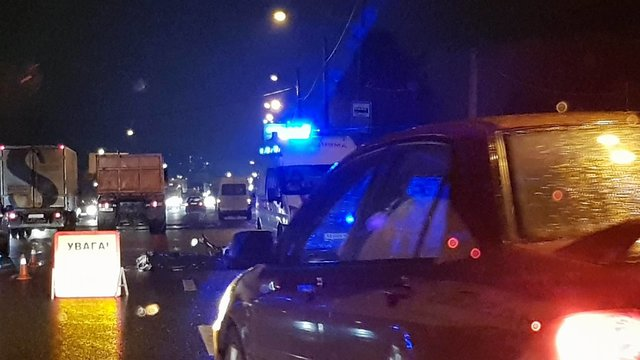 Жуткое ДТП вКиеве: самосвал раздавил мотоциклиста