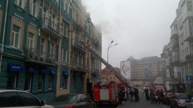 ГСЧС: Пожар вцентре столицы Украины  ликвидирован