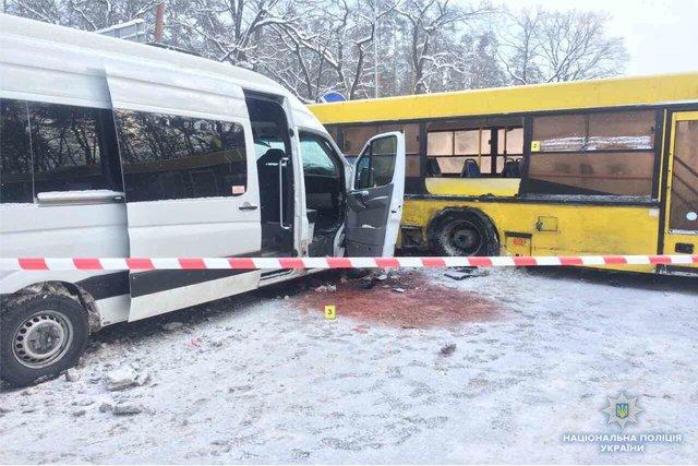 Натрассе Житомир-Киев случилось ДТП савтобусом имаршруткой