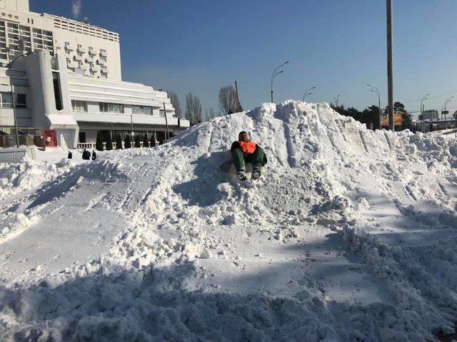 Предполагается гололедица, очевидно падение снега исосулек скрыш— Погода вКиеве