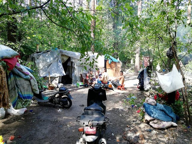 Полиция открыла дело пофакту разгрома националистами лагеря ромов вГолосеевском парке