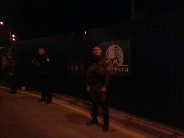 Киевляне заблокировали движение транспорта на«Героев Днепра»
