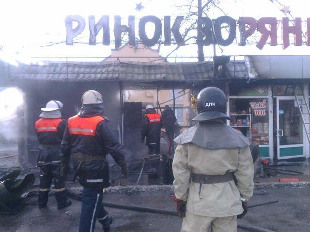 ВБорисполе произошел масштабный пожар