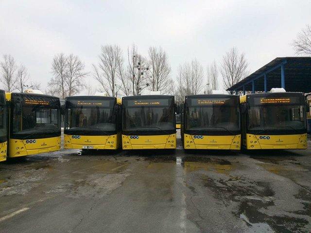 Публичный автомобильный парк украинской столицы пополнили 50 новых автобусов