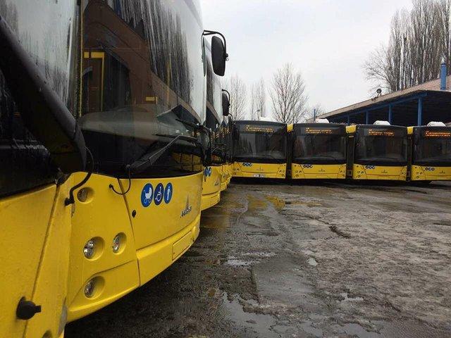 Киев закупил 50 новых актуальных насегодняшний день автобусов