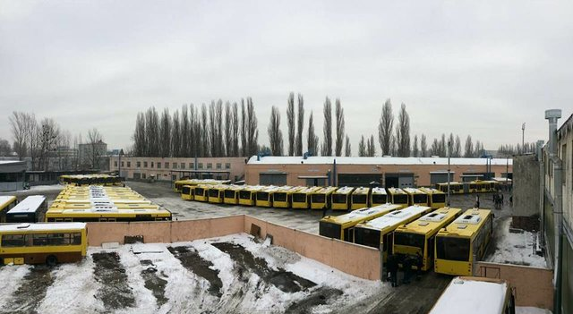 Публичный парк автомобилей столицы Украины пополнили 50 новых автобусов