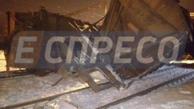 ВСоломенском районе столицы Украины столкнулись два грузовых поезда