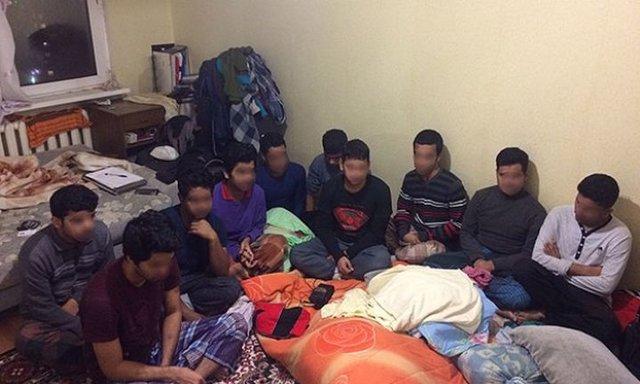 ВКиеве задержали десятерых незаконных  мигрантов изБангладеша